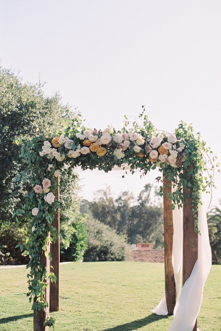 floral and greenery garden wedding ceremony ideas