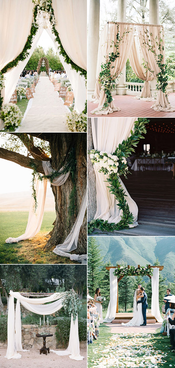 greenery wedding decoration ideas for outdoor weddings