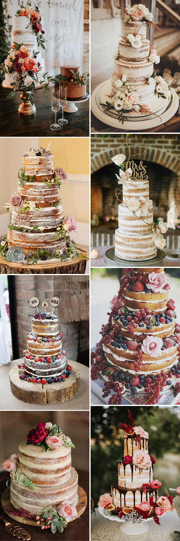 stunning naked wedding cakes