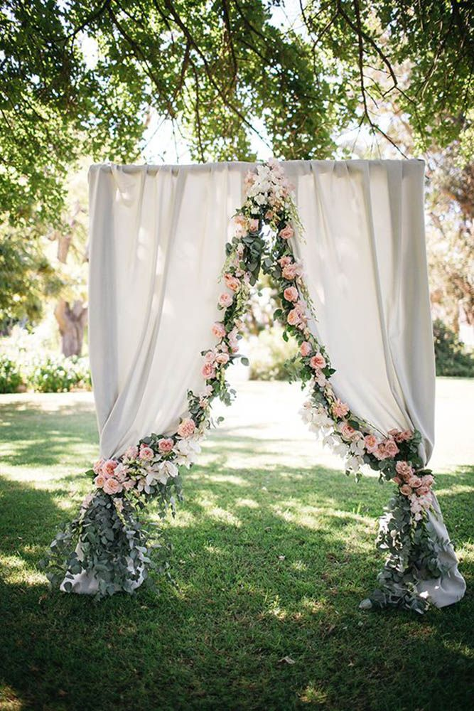 the best diy floral garden wedding arbor ideas