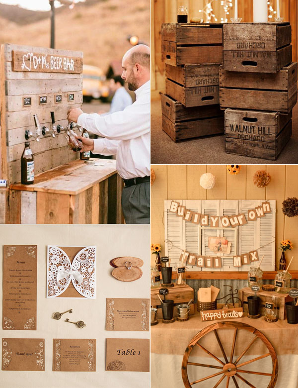 beautiful and attractive rustic wedding drink bar ideas