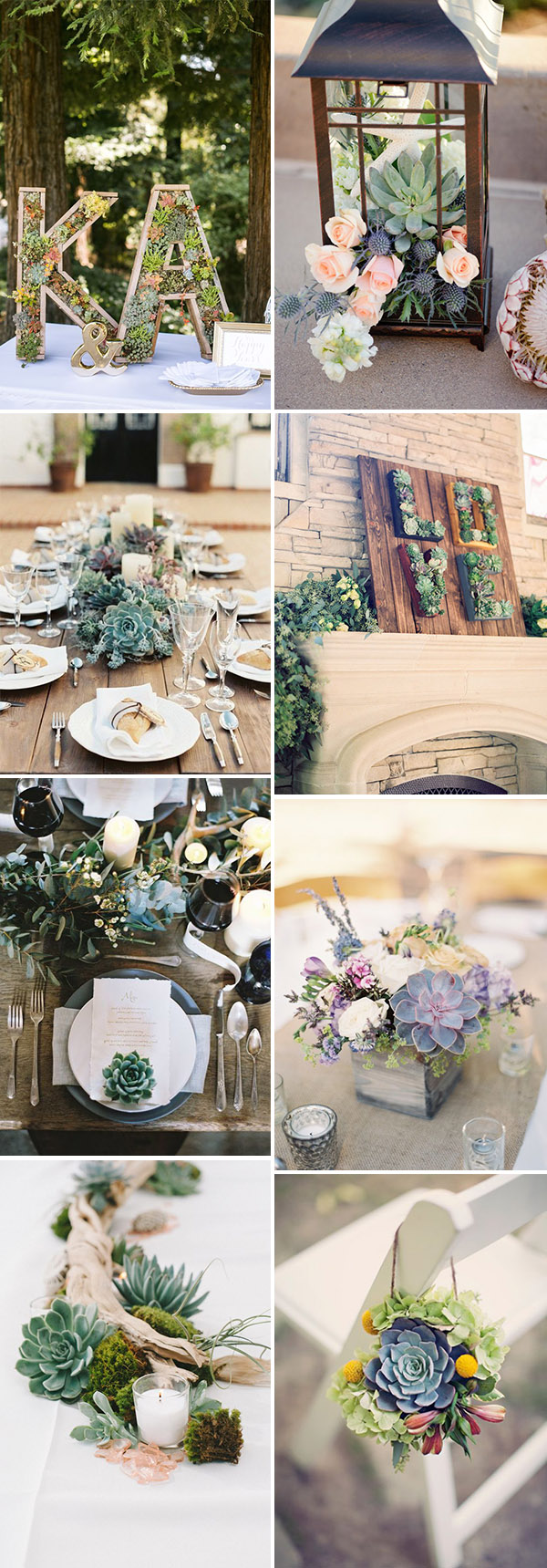 beautiful and creative wedding decoration ideas with succulents