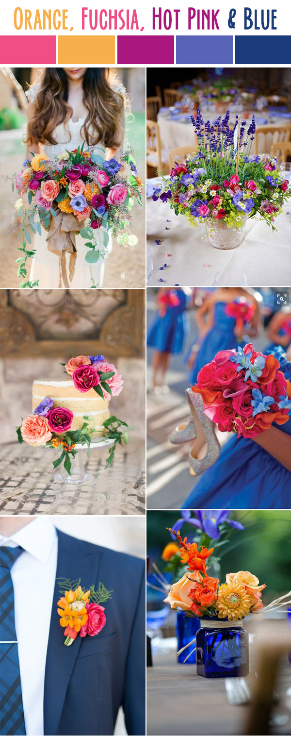 10 Best Wedding Color Palettes For Spring & Summer 2017