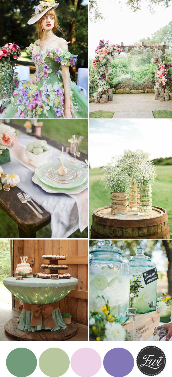 natural greenery spring wedding ideas with floral