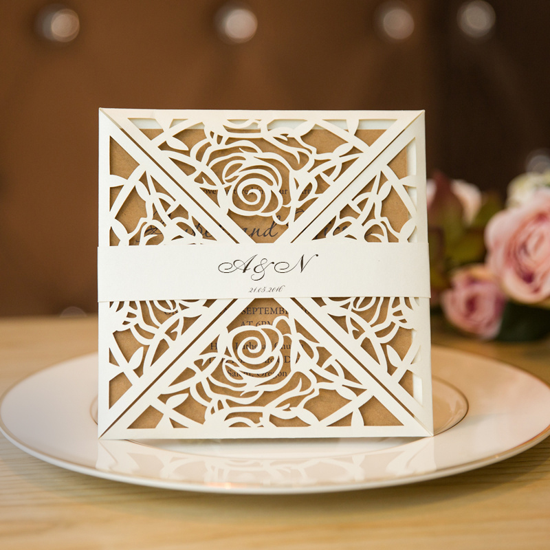 unique rustic laser cut wedding invitations EWTS0191