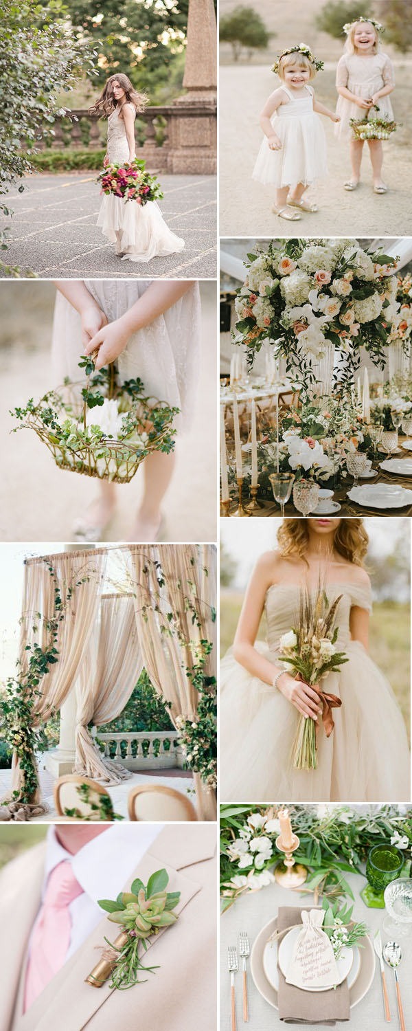 7 Most Popular Greenery Wedding Color Combos You Can Never Miss