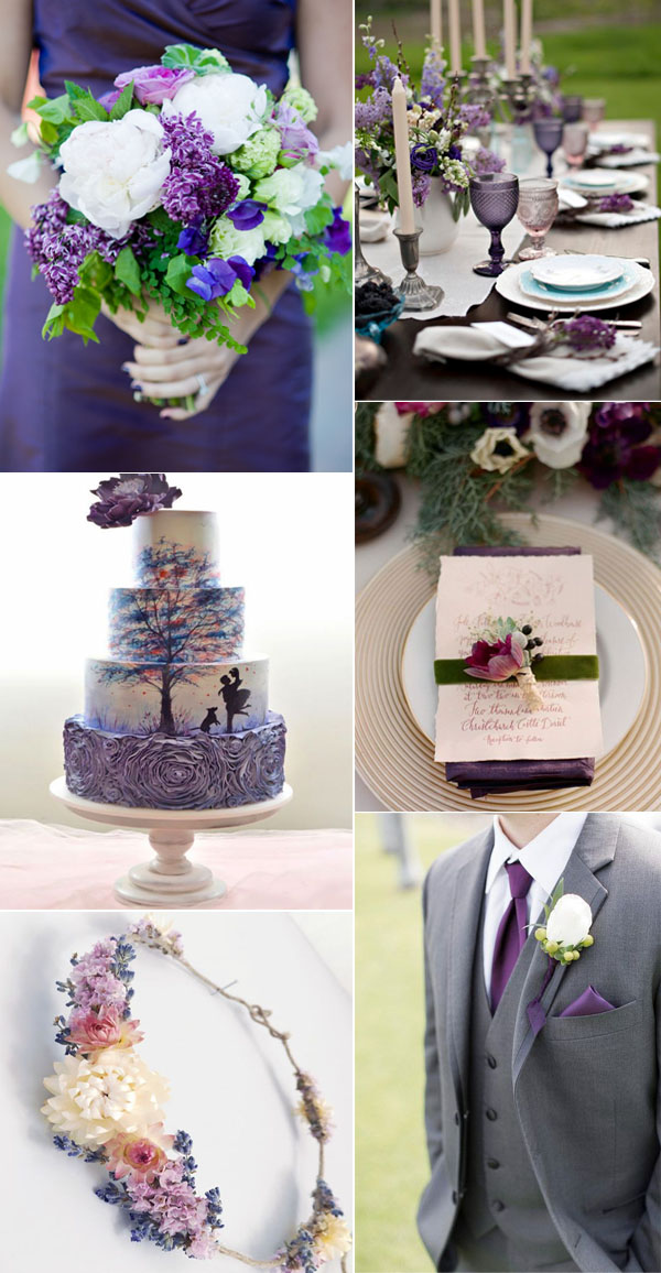 unique blackberry and mulberry shade of purple wedding color ideas for summer and fall