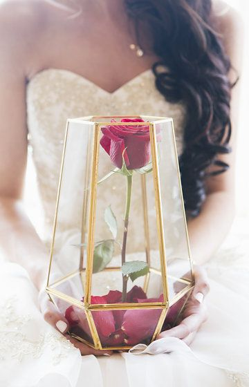 Beauty and the Beast rose wedding inspiration