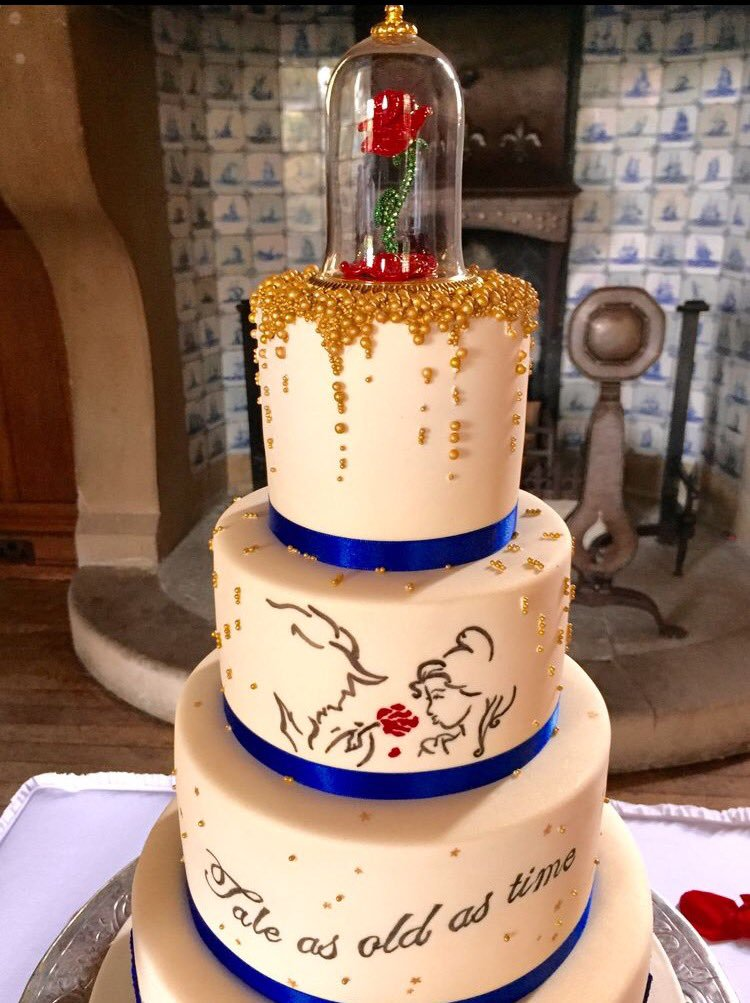 beauty and the beast rose wedding cake topper 30 charming and the beast inspired tale 11245