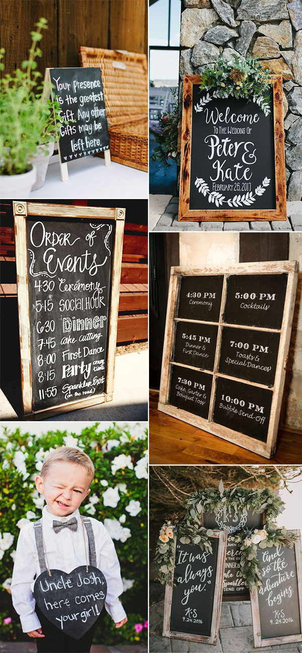 Pretty budget friendly wedding decorating ideas 30 easy to do rustic budget friendly do it yourself rustic chalkboard wedding sign ideas solutioingenieria Image collections
