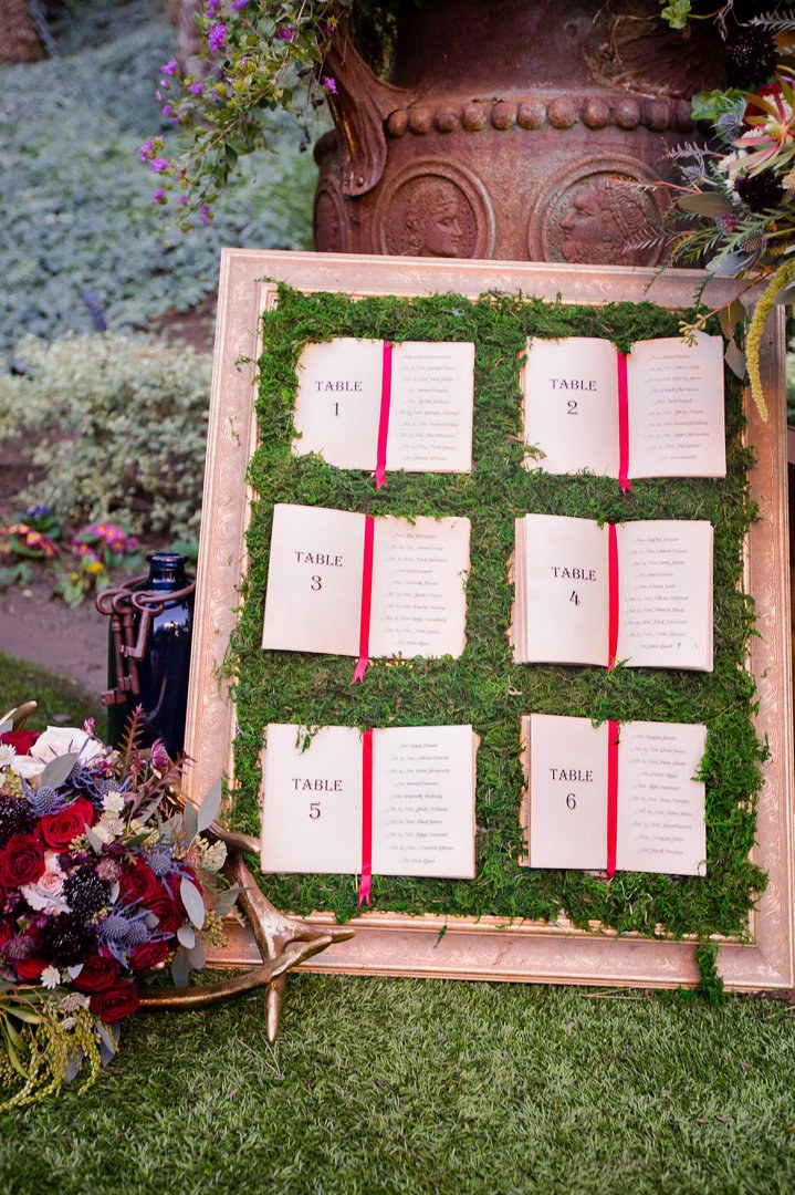 enchanted Beauty and the Beast wedding table seating ideas