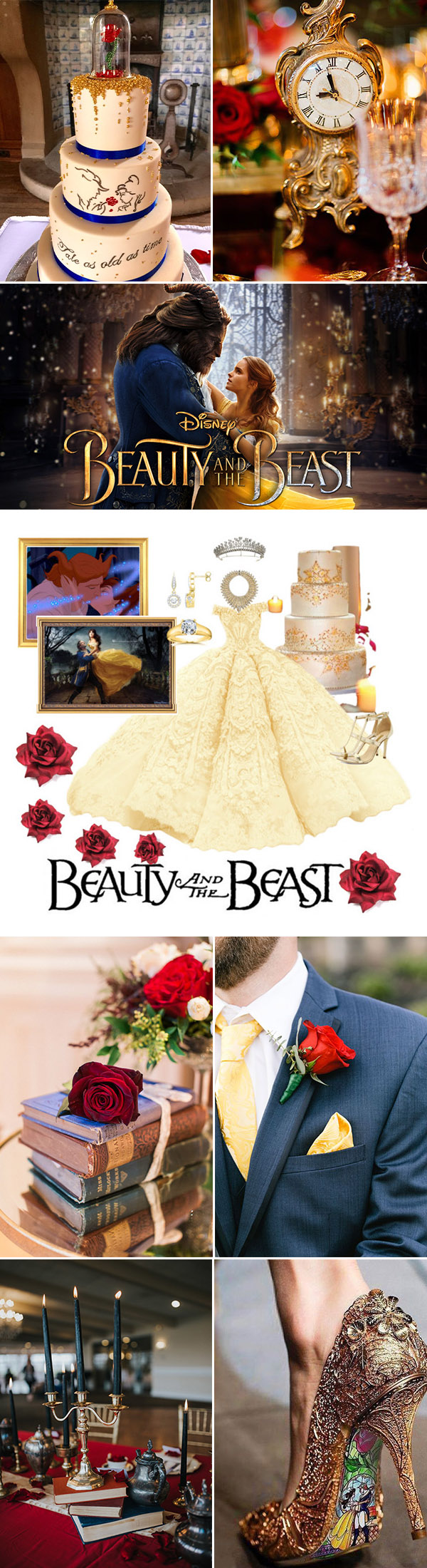 30 Charming Beauty and the Beast Inspired Fairy Tale Wedding Ideas