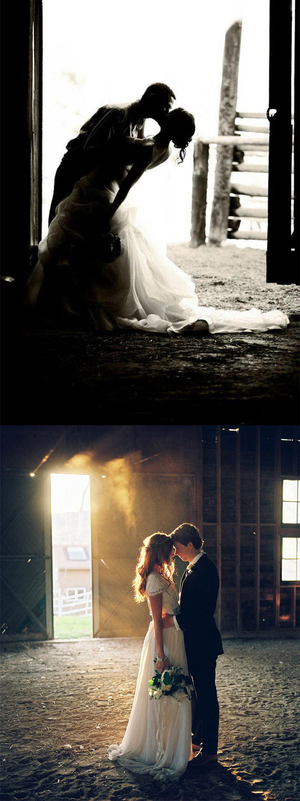 romantic barn wedding photo ideas