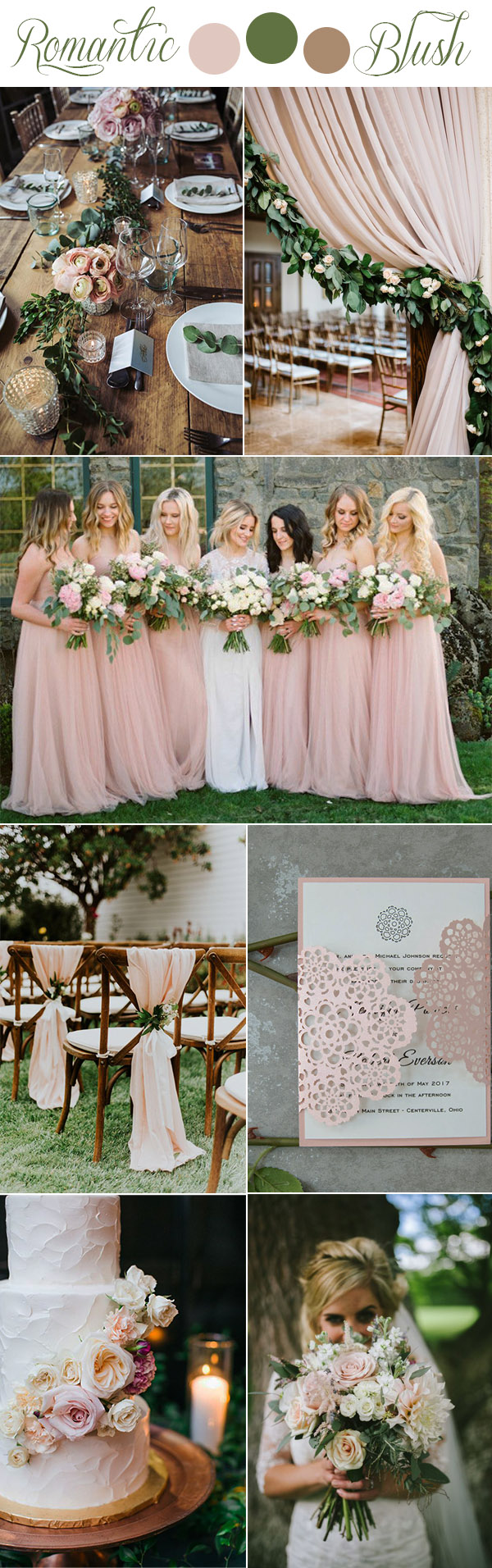 7 gorgeous rustic romantic and elegant wedding ideas color romantic blush pink rustic garden wedding color inpiration workwithnaturefo