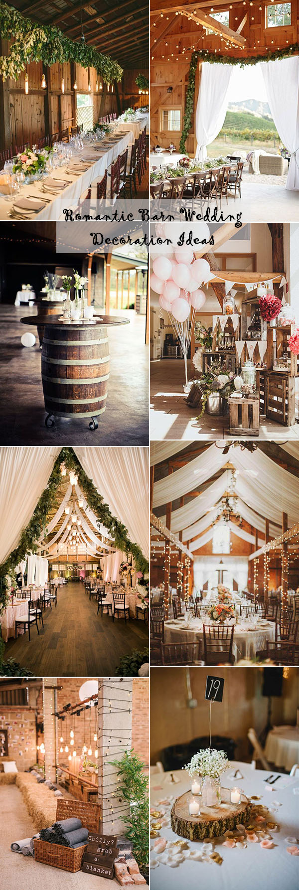 25 Sweet and Romantic Rustic Barn Wedding Decoration Ideas ...