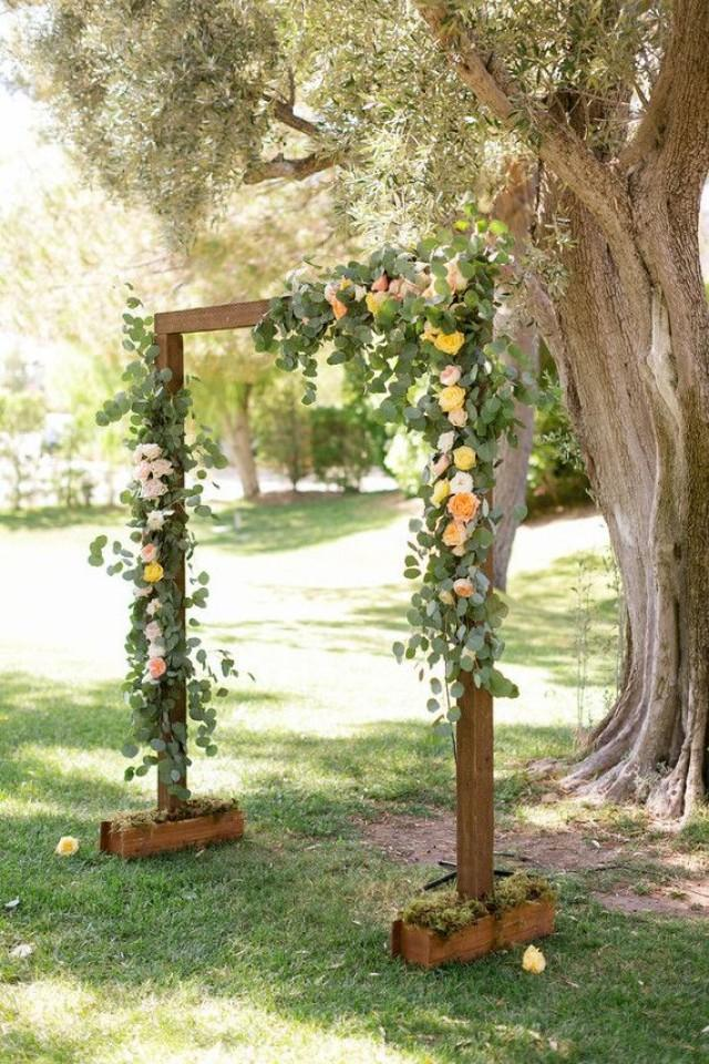 simple and budget rustic wedding altar wedding party ideas