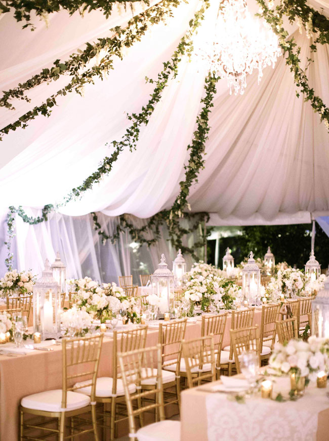 Drapery and hanging graland ideas to decorate your tened wedding