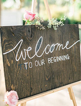Naturally Rustic Floral Welcome Wedding Sign