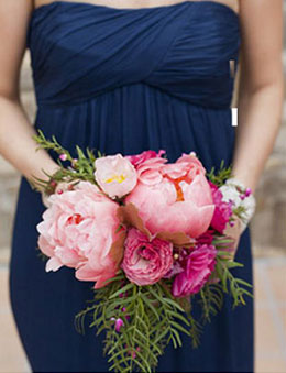 Navy and Pink Wedding Color Palette Bridesmaid