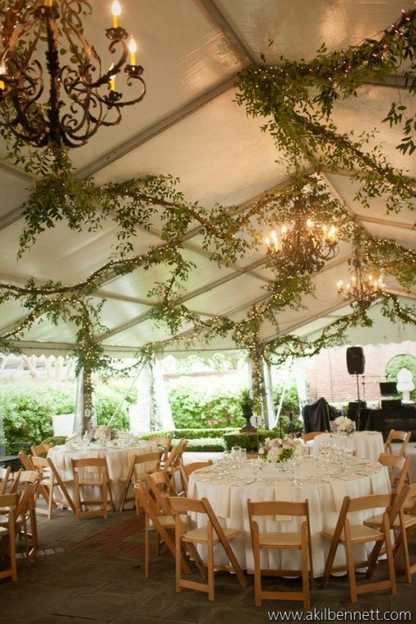 fancy greenery wedding tent reception decoration ideas & 11 Fancy Tented Wedding Decoration Ideas to Stun Your Guests ...