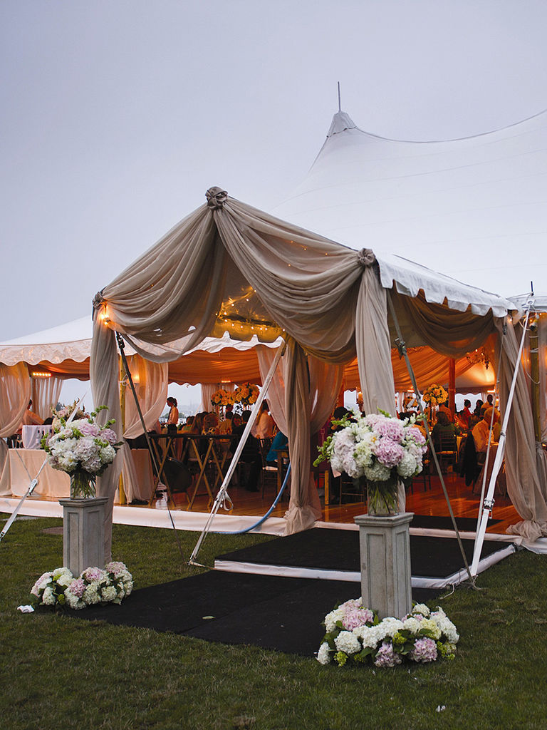 floral entrance ideas for tented wedding trends