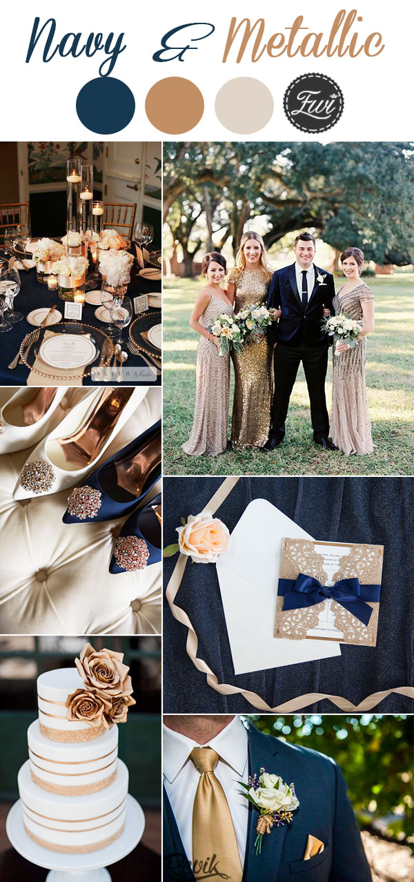 7 Classic Navy Blue Wedding Colors with Matching Wedding ...