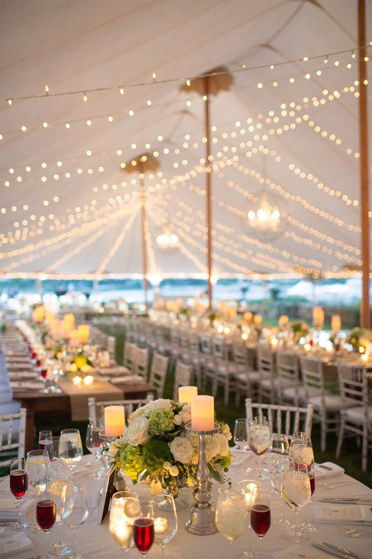 romantic tent wedding centerpieces ideas