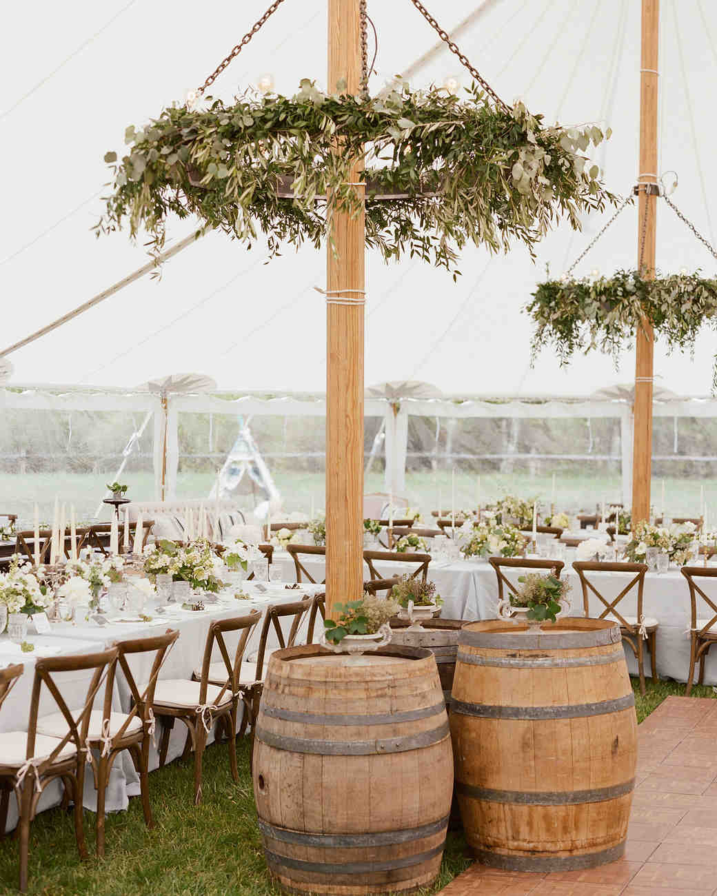 rustic tented weddding reception decoration ideas