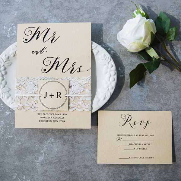 simple country rustic wedding invitations