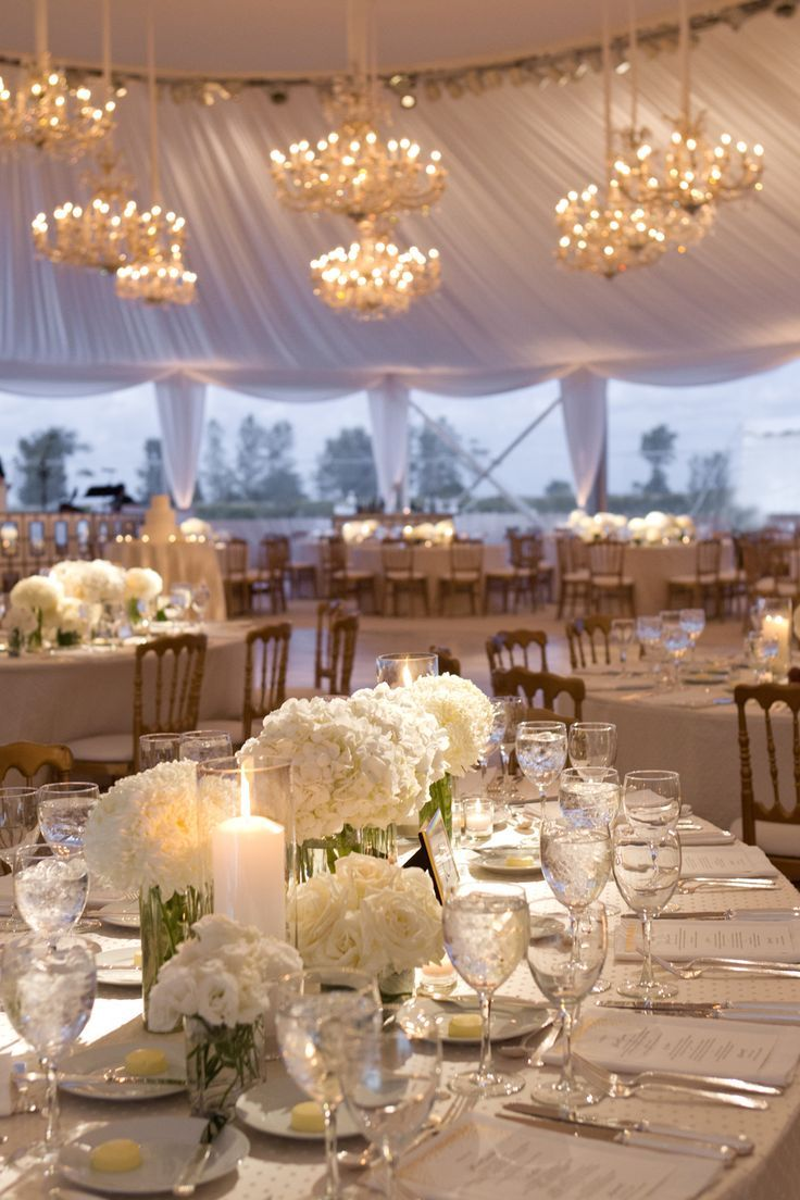 stunning white tented wedding reception lighting ideas