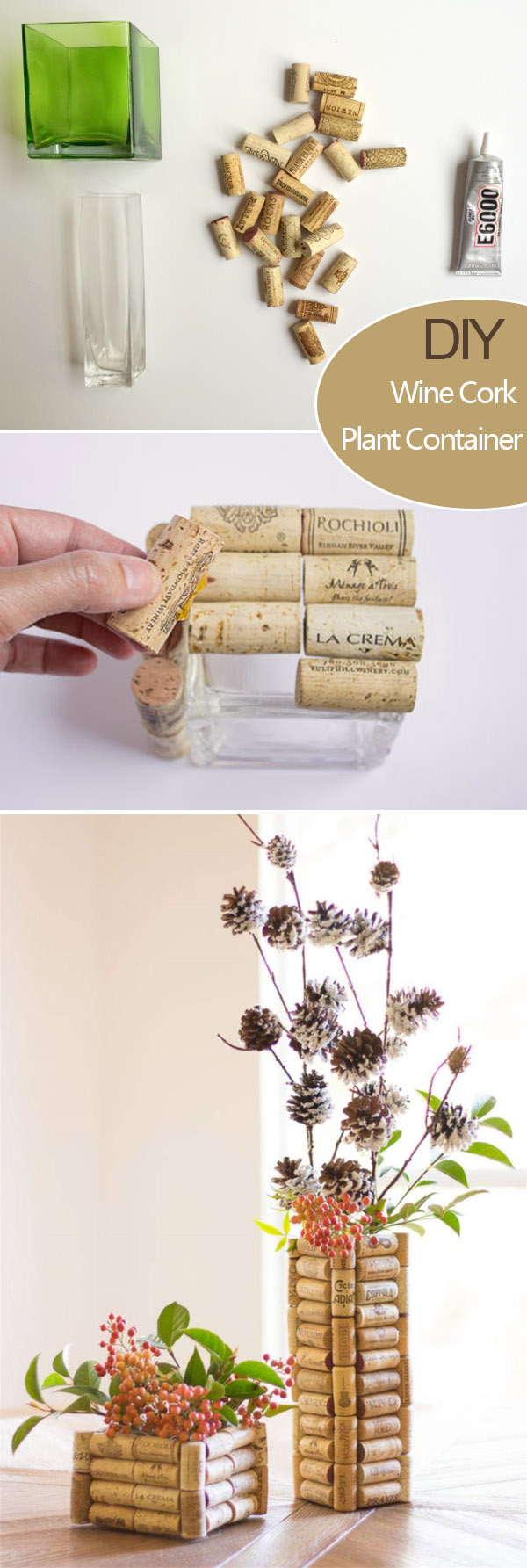 stylish and creat wine cork floral wedding decoration ideas