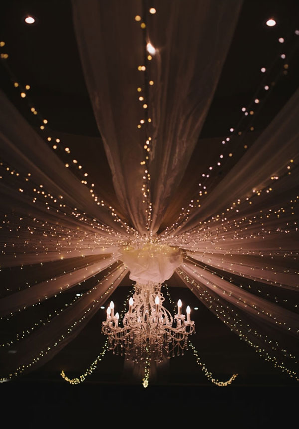 Breathtaking Wedding Crystal Chandelier with Twinkle Lights Decor