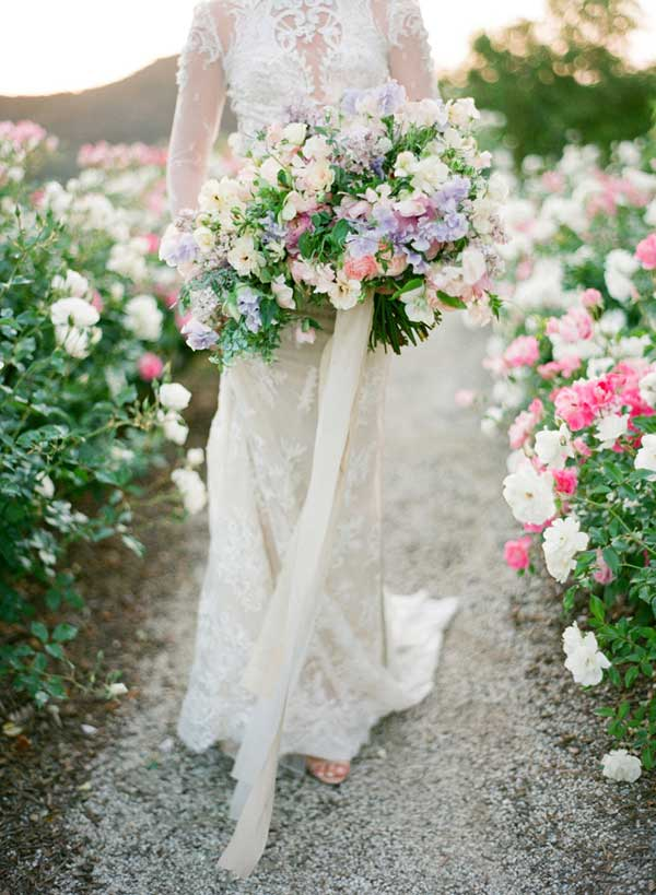 Enchanting Blooming Garden Wedding Bridal Shoot