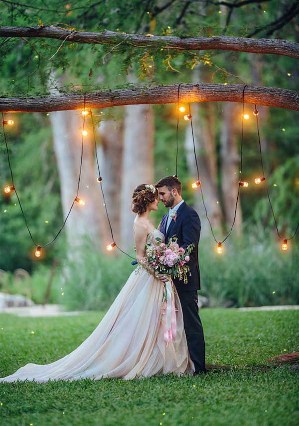 Fairy Wedding Backdrop With Lights Decoration