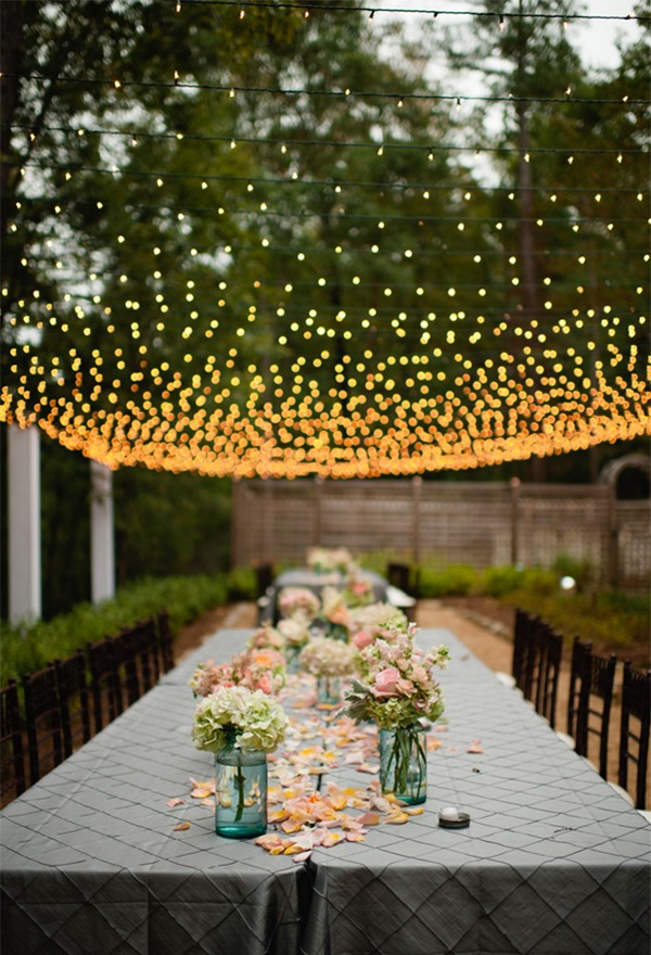 Fairy Wedding Reception Lighting Decor Ideas