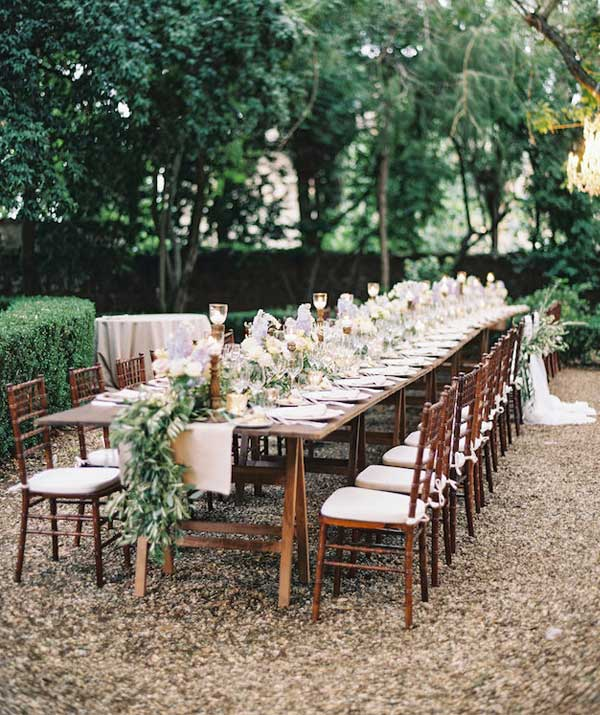 Intimate Garden Wedding Reception Inspiration