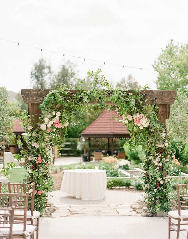 Lush Greenery Garden Wedding Arch Decor