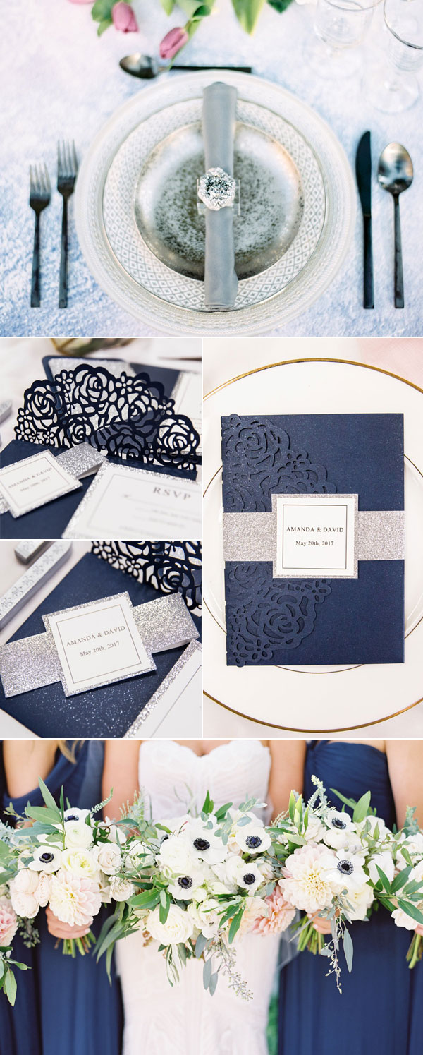 Modern Blue and Silver Wedding Inspiration