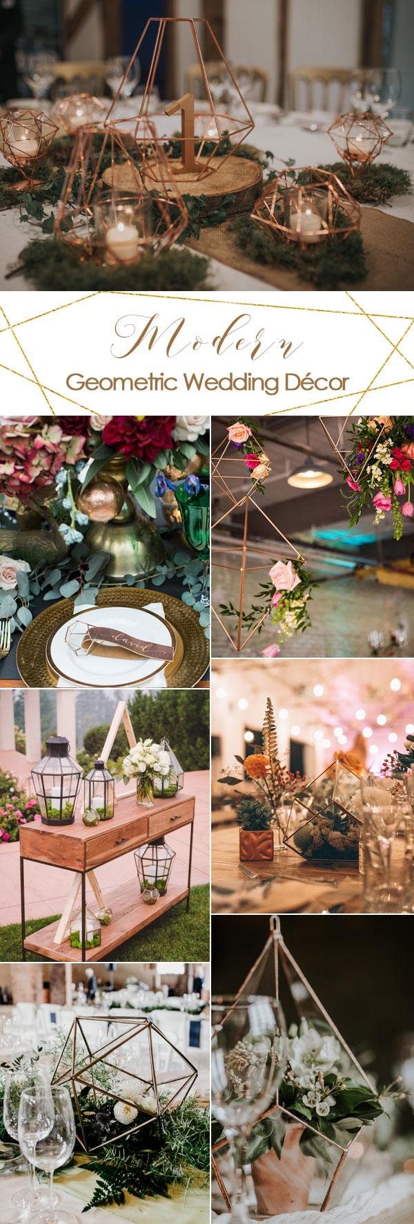 Ultimate Geometric Décor Inspiration for a Modern & Stylish Wedding