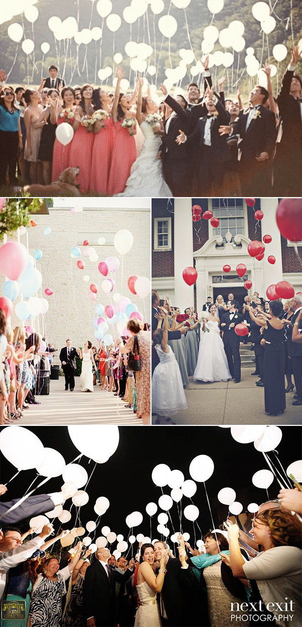 balloon wedding exit send off ideas
