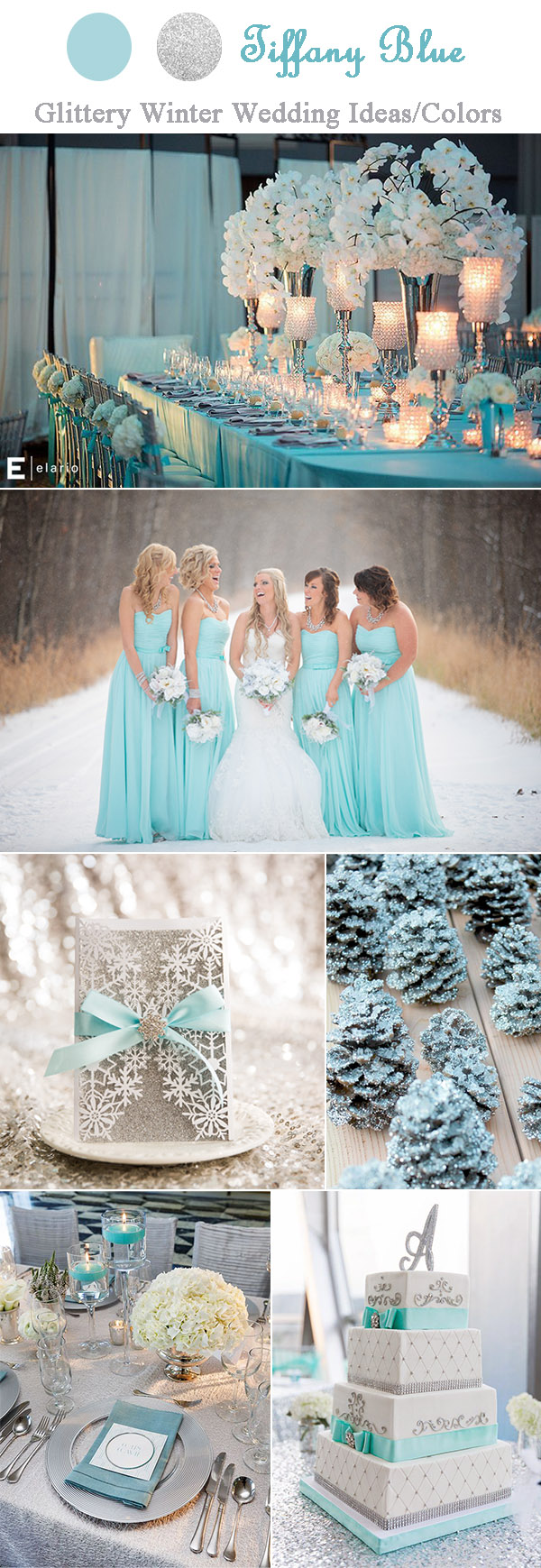The Perfect Glitter and Sparkle Winter Wedding Ideas by Color and Theme