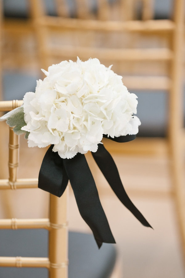 black & white country wedding aisle decor ideas