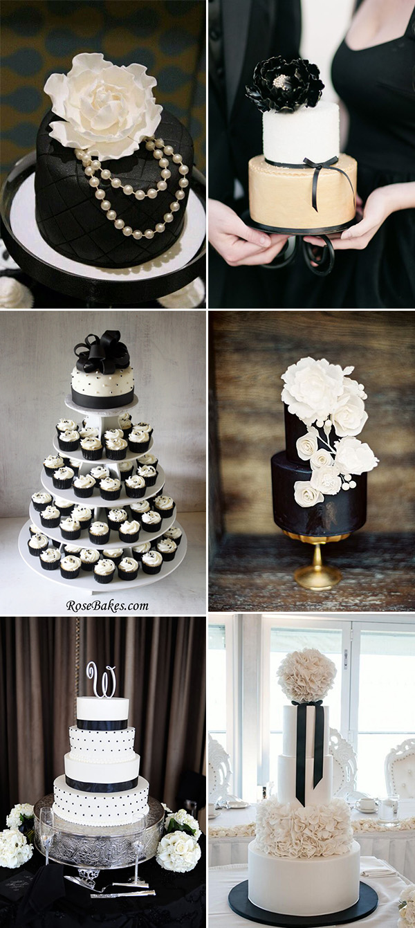 gorgeous black and white wedding cake ideas and inspiration