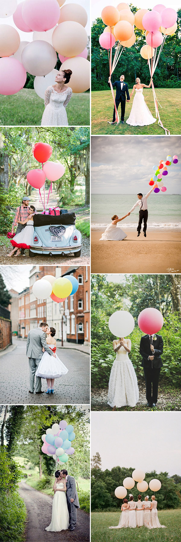 lovely wedding photo ideas with colorful balloons