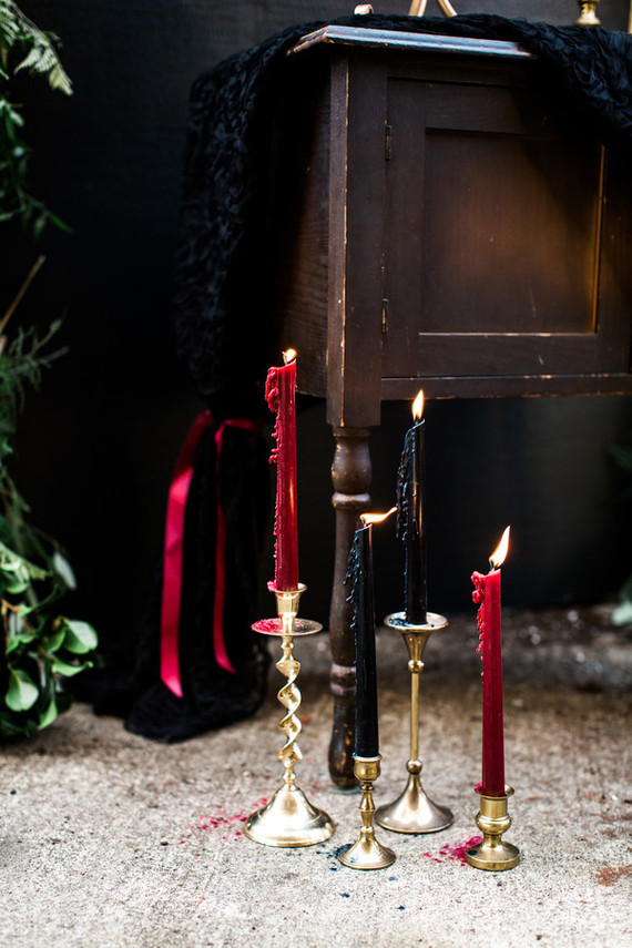 Black, Red and Gold Halloween Wedding Ideas