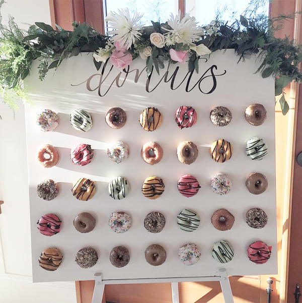 Cute Mini Donuts Wall Wedding Decor Ideas
