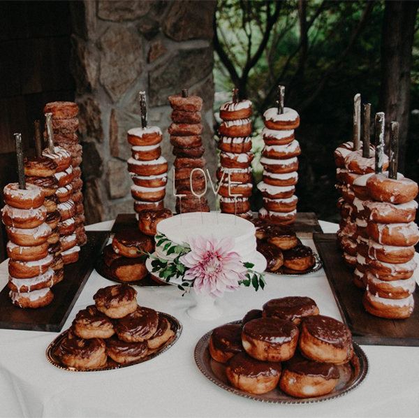 Delicious Wedding Donut Dessert Tables