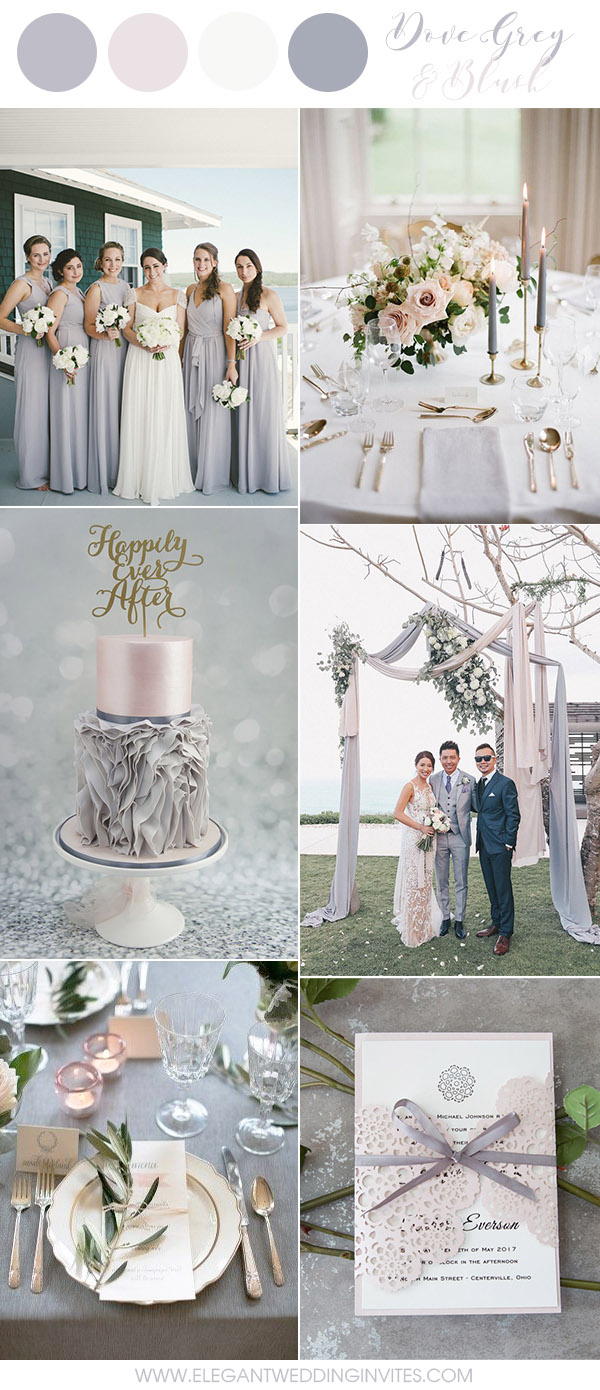 6 Amazing Grey Wedding Colors Inspired By Pantone 2018 Color Harbor ...