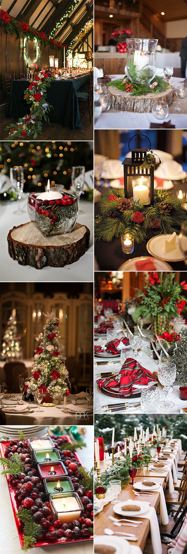 fabulous winter christmas festival wedding centerpieces ideas