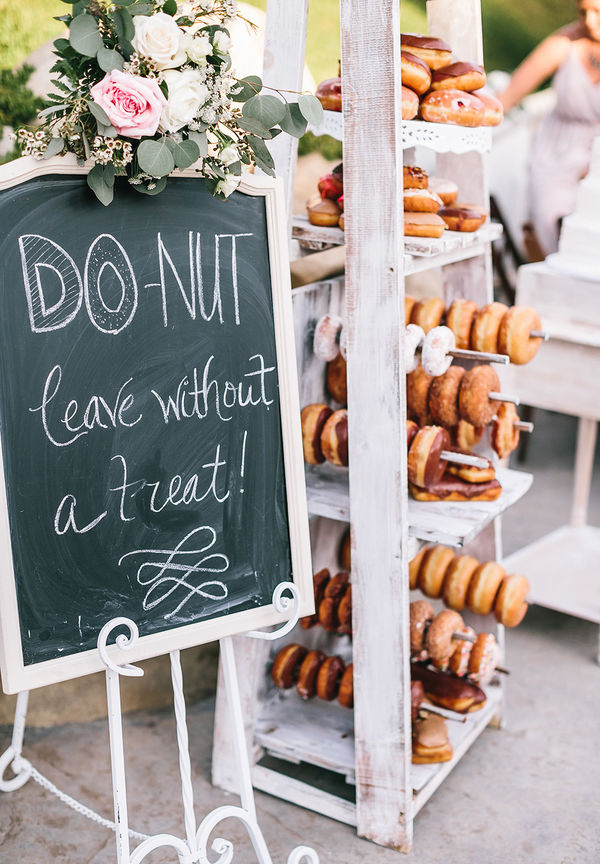 Garden Wedding Dessert Donut Bar Ideas